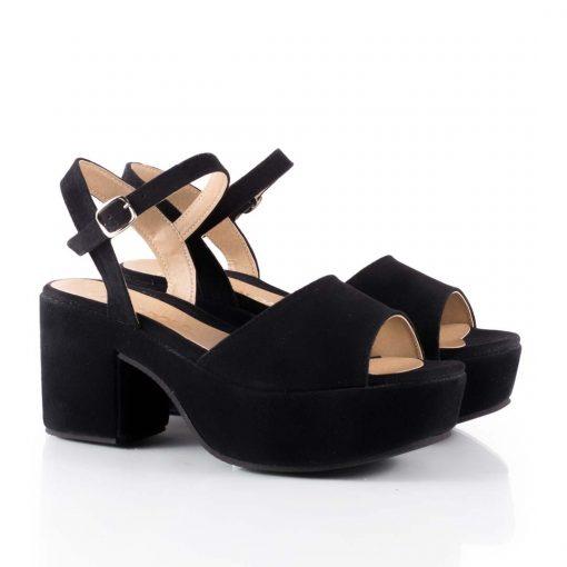 talla 40 d47ec dc657 Sandalias negras con plataforma Fanky