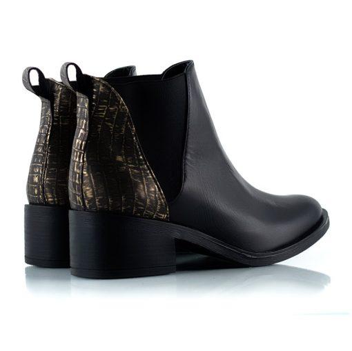 botas de cuero de caña media con elastico