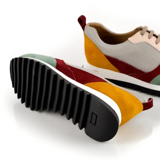 zapatillas de cuero para mujer con suela antideslizante